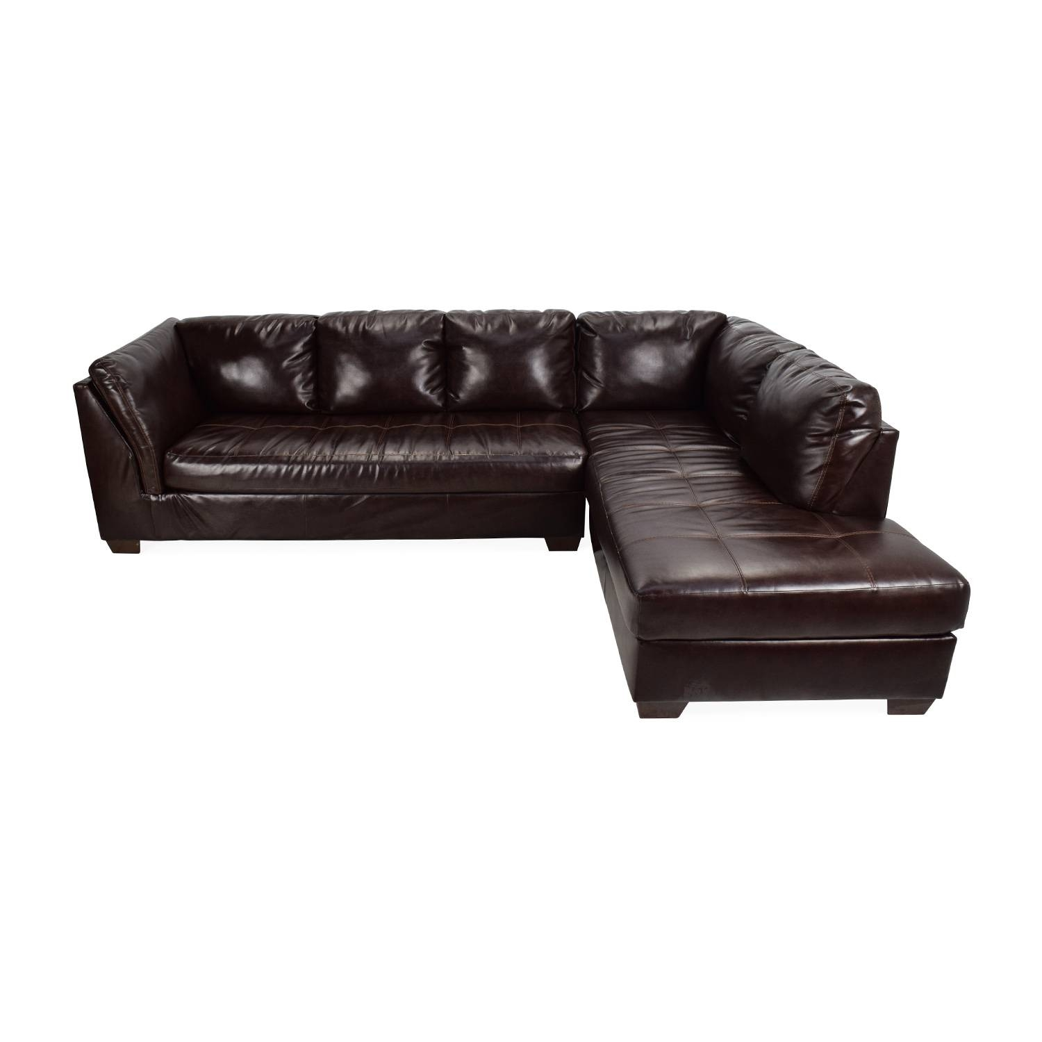 75% Off - Jennifer Convertibles Jennifer Convertibles Brown with regard to Jennifer Sofas and Sectionals (Image 2 of 15)