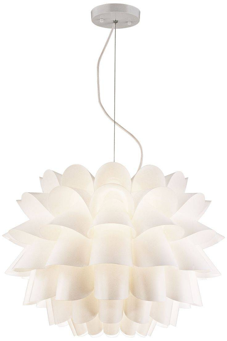 76 Best Lighting Images On Pinterest | Euro, Chandeliers And With Regard To White Flower Pendant Lights (Photo 14 of 15)