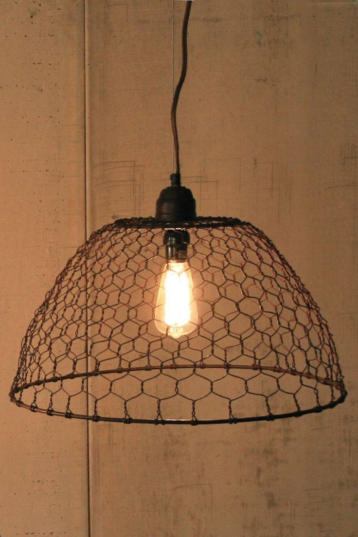 79 Best Chicken Wire Images On Pinterest | Chicken Wire Crafts in Chicken Wire Pendant Lights (Image 5 of 15)