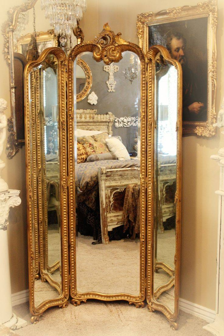 82 Best Antique Screens Images On Pinterest | Folding Screens in Full Length Antique Dressing Mirrors (Image 1 of 15)