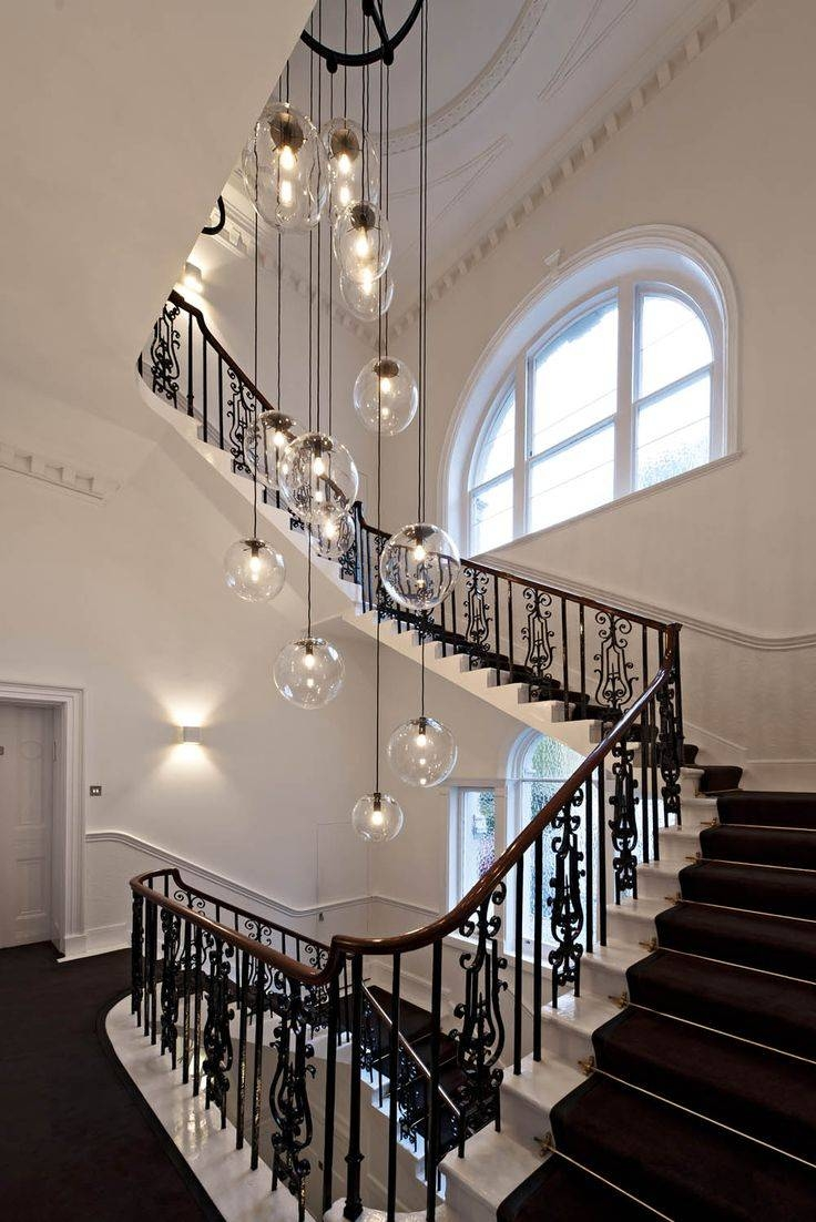 9 Best Staircase Images On Pinterest | Stairs, Staircase Design with Stairwell Lighting Pendants (Image 3 of 15)