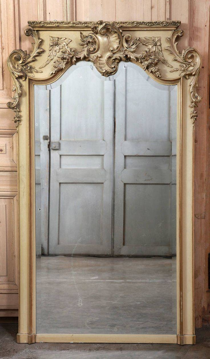 926 Best Antique Mirrors Images On Pinterest | Mirror Mirror in French Vintage Mirrors (Image 6 of 15)
