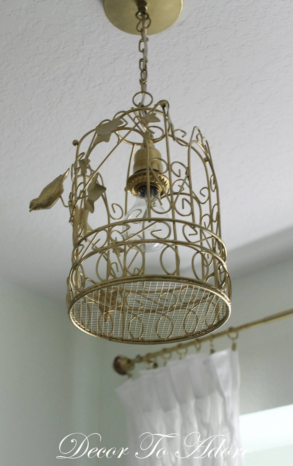 A Birdcage Lantern Light Fixture For The Laundry Room - Decor To Adore regarding Birdcage Lights Fixtures (Image 1 of 15)