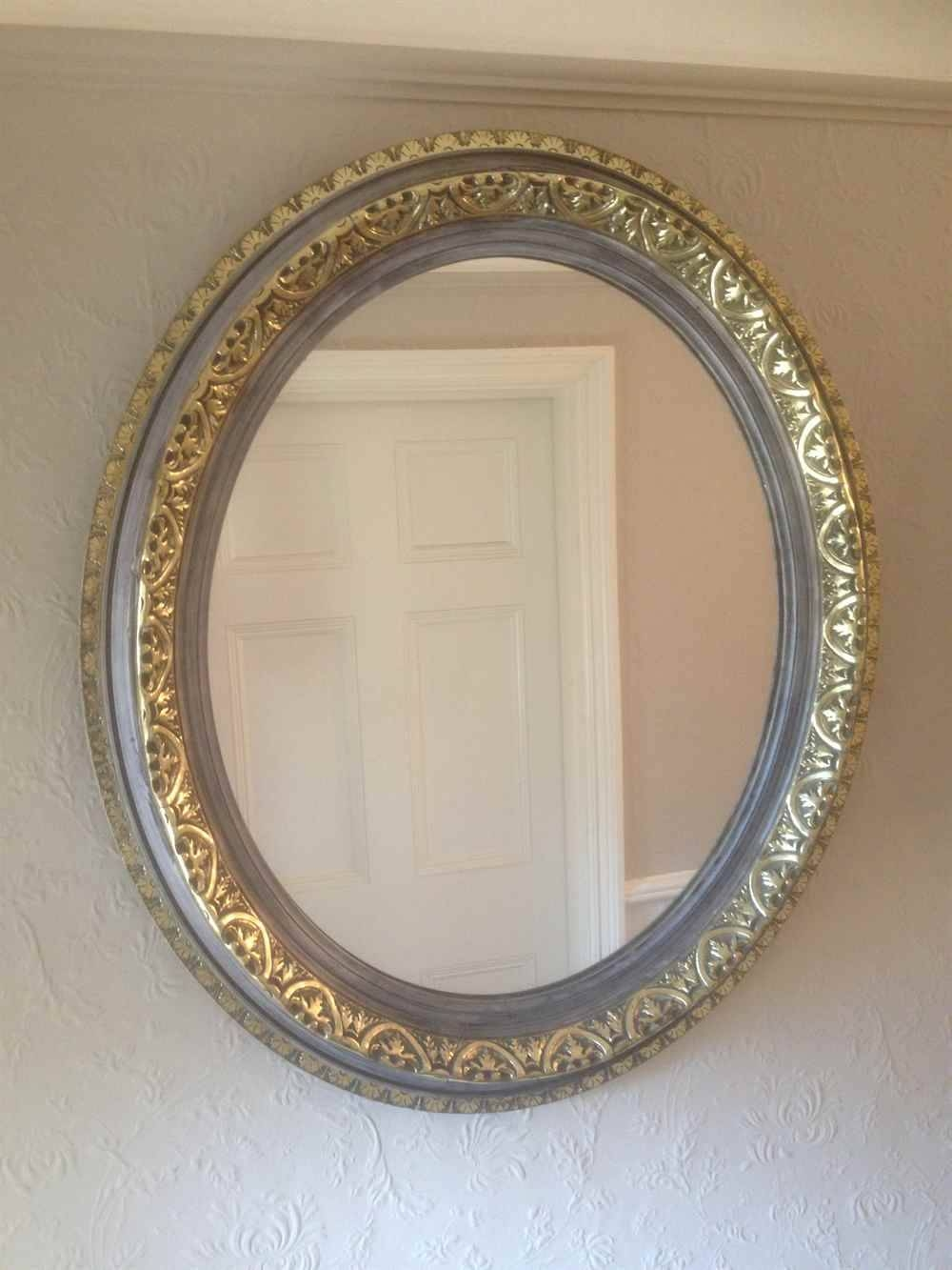 A Fabulous Pair Of Antique 19Th Century French Carved Wood Gilt Pertaining To French Oval Mirrors (View 4 of 15)
