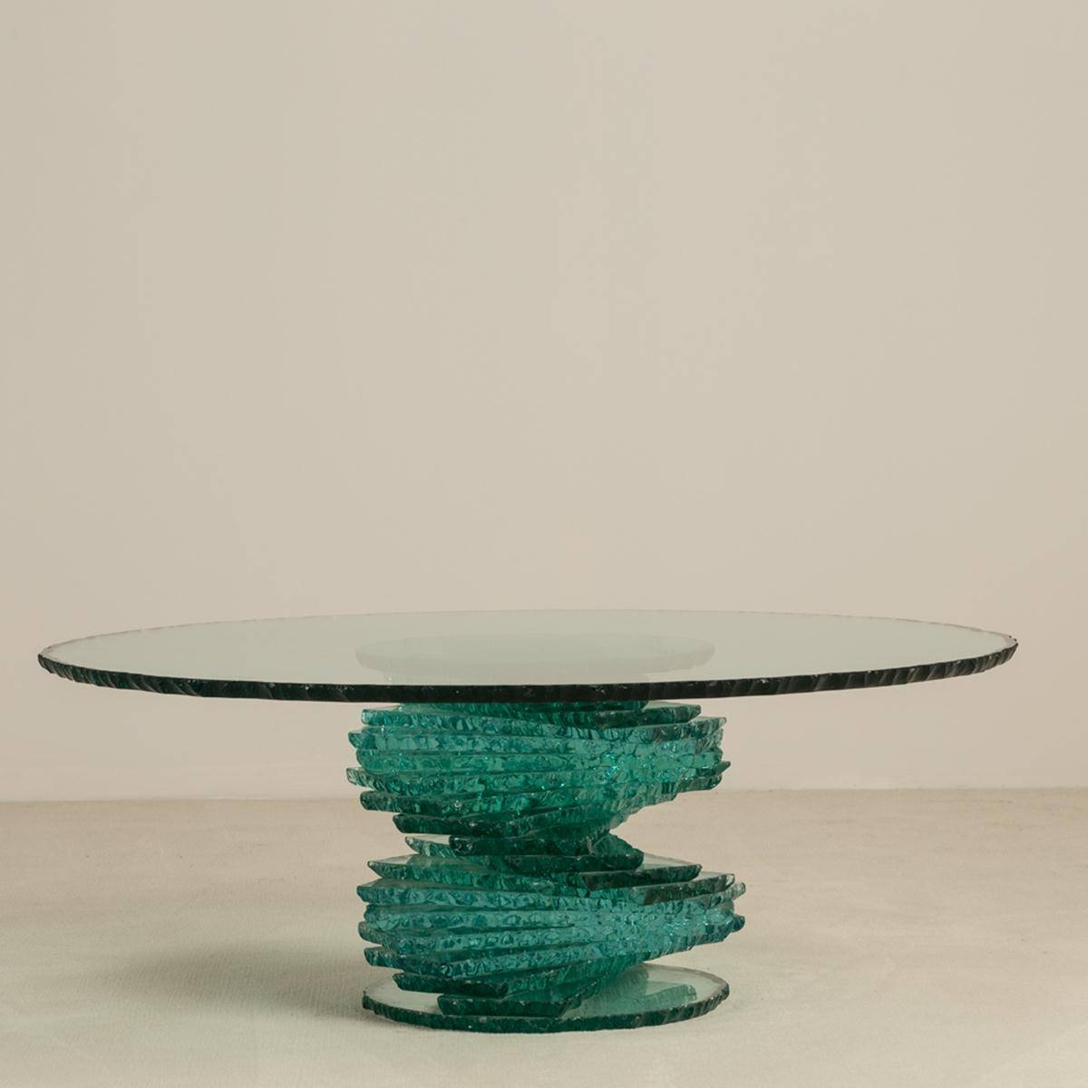 A Late 20Th Century Spiral Pedestal Based Glass Coffee Table with regard to Spiral Glass Coffee Table (Image 3 of 15)