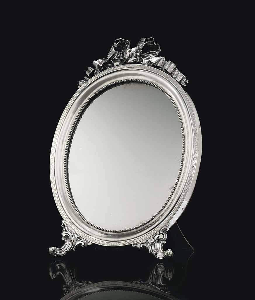 A Silver Dressing Table Mirror | Marked Sazikov With The Imperial With Silver Dressing Table Mirrors (View 1 of 15)