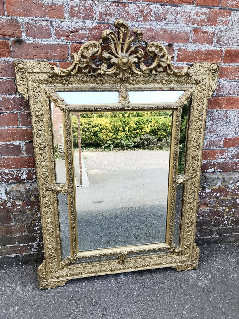 A Spectacular Good Size Antique 19Th Century French Carved Wood pertaining to Antique French Mirrors (Image 2 of 15)