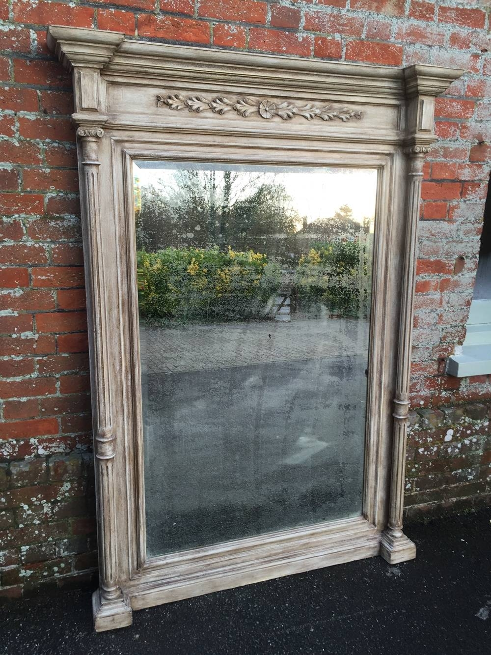 A Spectacular Large Antique 19Th Century French Carved Wood with Large Overmantle Mirrors (Image 2 of 15)