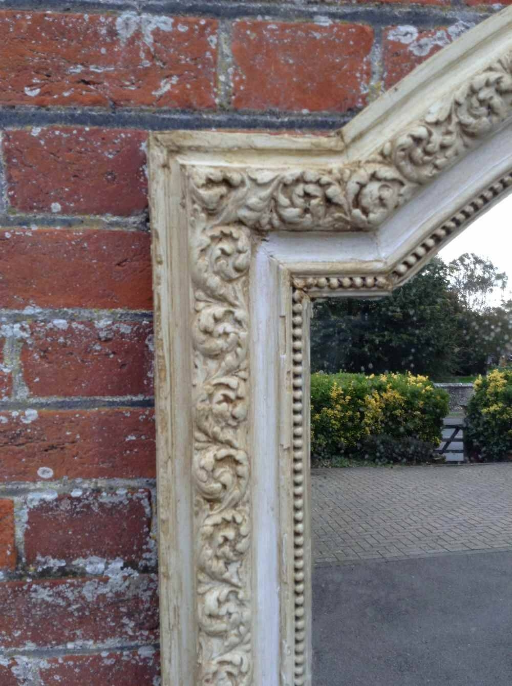 A Stunning Large Antique 19Th Century French Carved Wood And Gesso With Regard To Distressed Cream Mirrors (View 2 of 15)