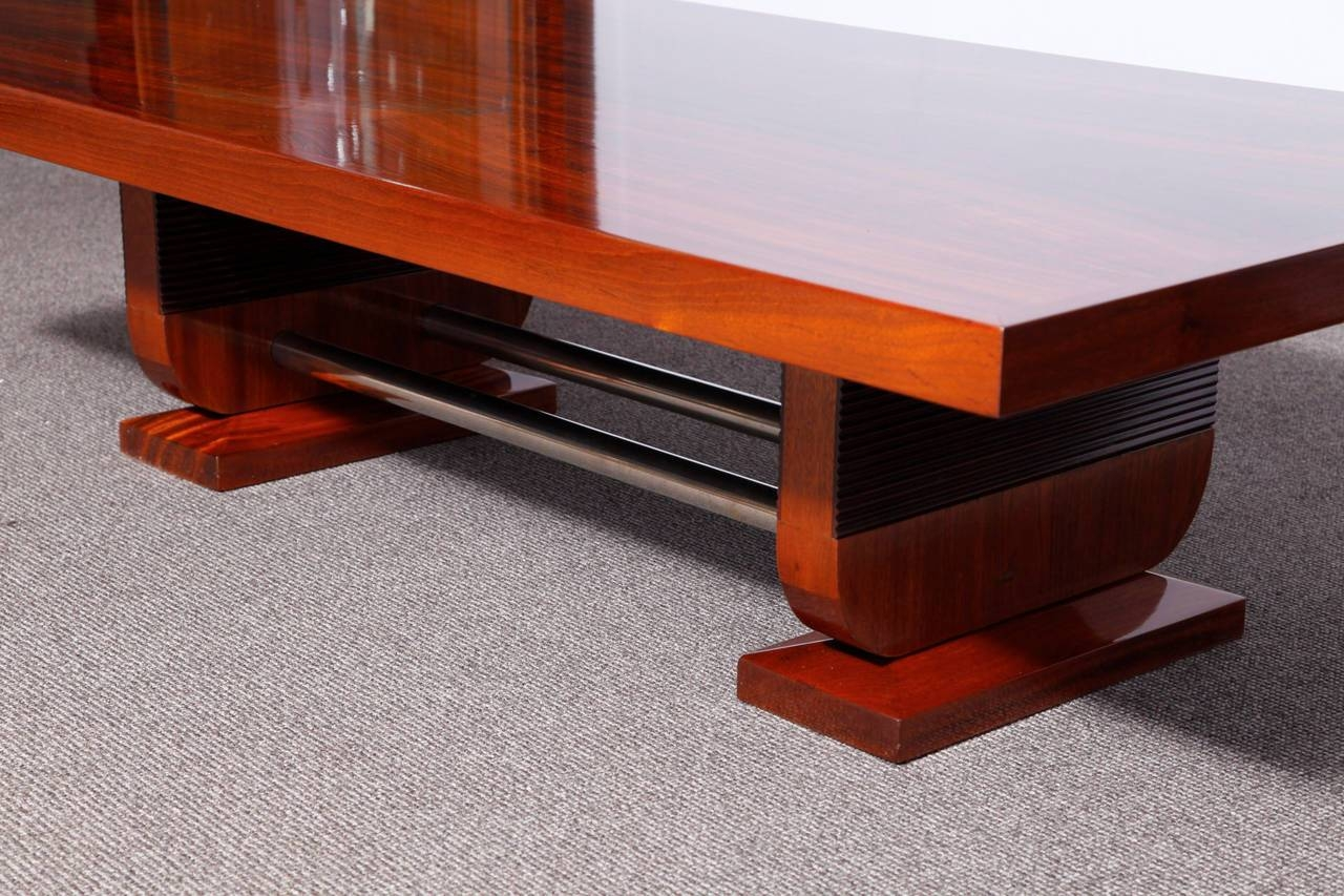 A Very Large Art Deco Sofa Coffee Table | Modernism regarding Very Large Coffee Tables (Image 1 of 15)