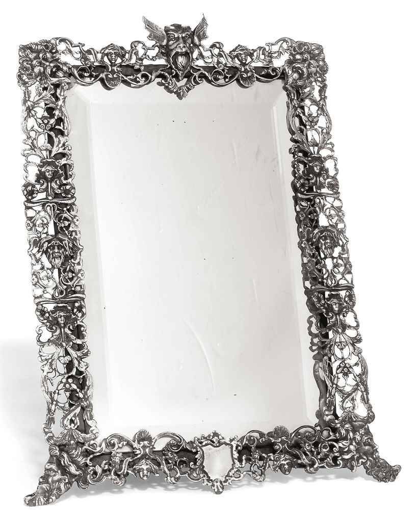 A Victorian Silver Dressing Table Mirror | Mark Of William Comyns Regarding Silver Dressing Table Mirrors (View 2 of 15)