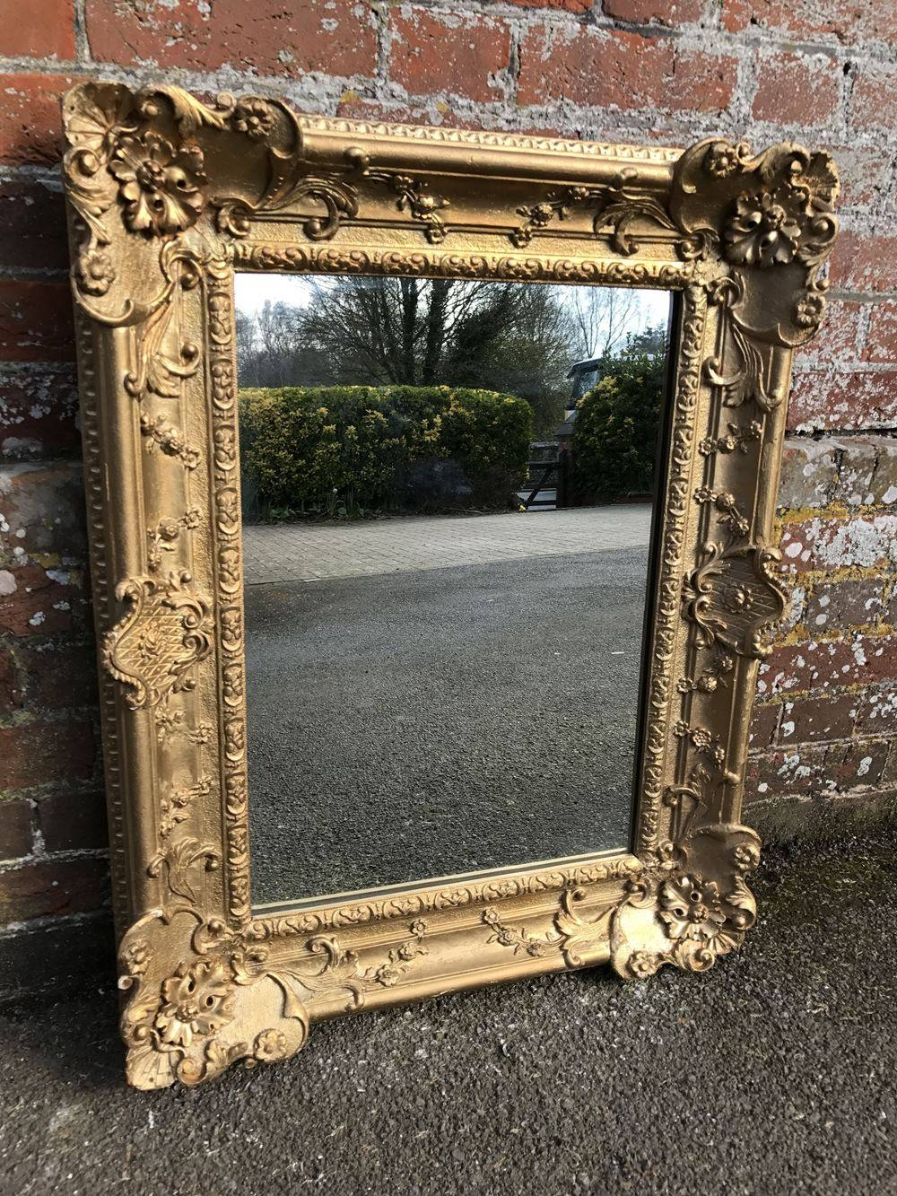 A Wonderful Antique 19Th Century French Carved Wood And Gesso with regard to Antique French Mirrors (Image 6 of 15)
