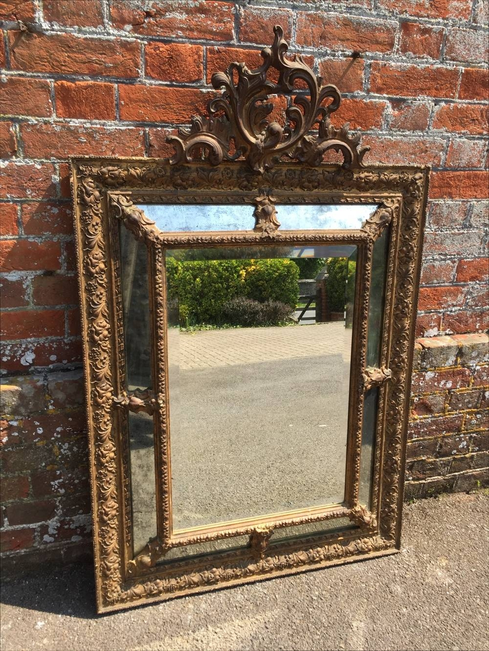 A Wonderful Antique 19Th Century French Carved Wood & Gesso with regard to Antique French Mirrors (Image 5 of 15)