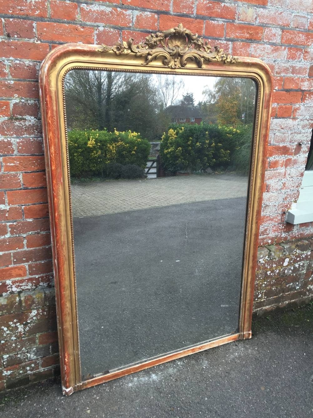 A Wonderful Large Antique 19Th Century French Carved Wood & Gesso with Antique Overmantle Mirrors (Image 1 of 15)