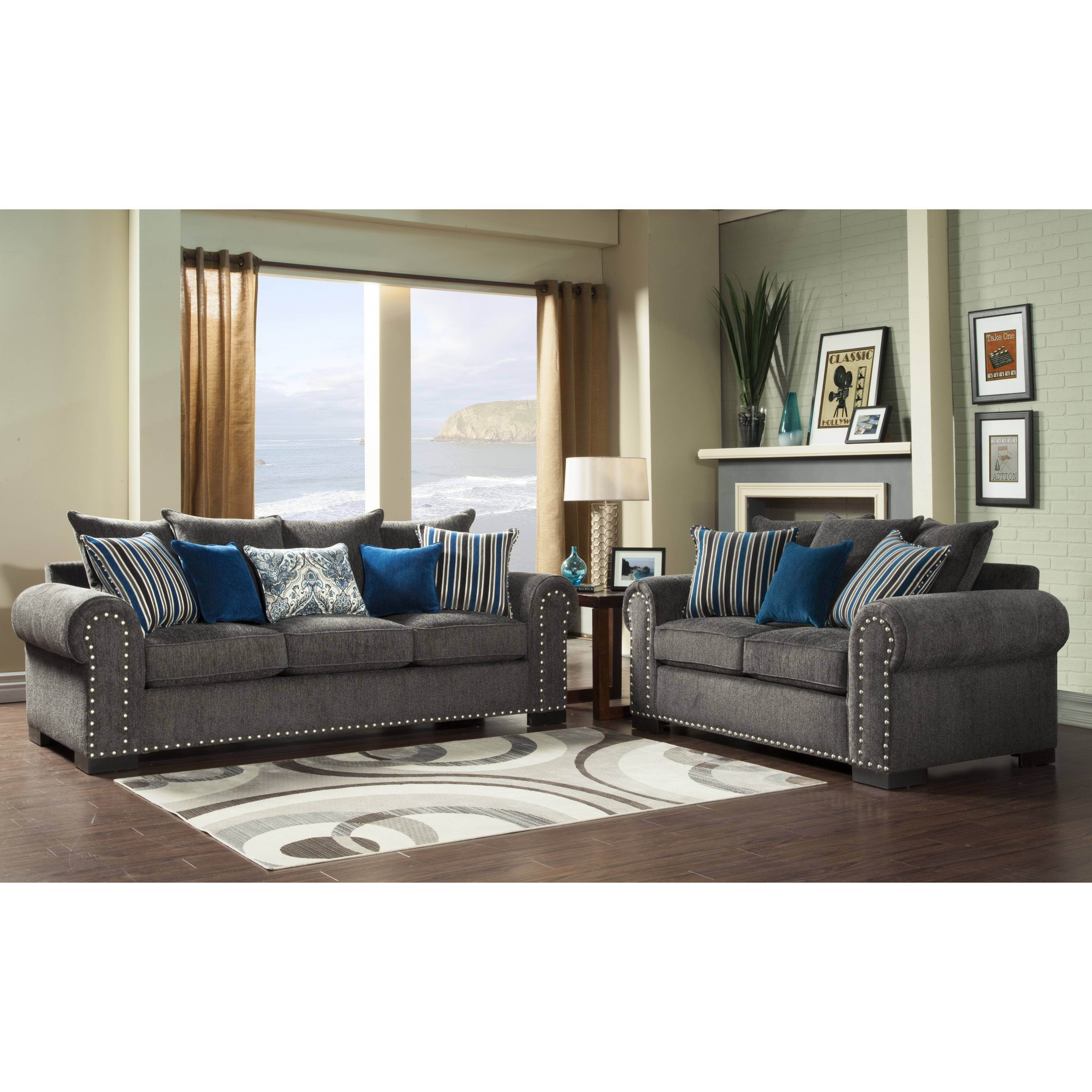 Accent Pillows For Gray Sofa | Pillow Decoration in Blue Gray Sofas (Image 1 of 15)