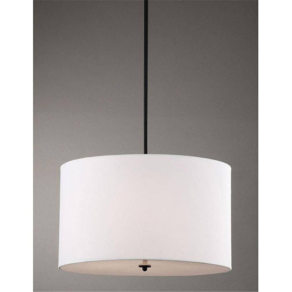 Accessories : Cylinder Pendant Light Drum Pendant Lighting Black for Red Drum Pendants (Image 1 of 15)
