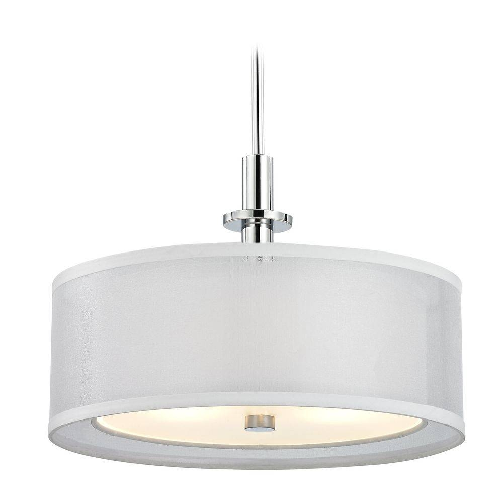 Accessories : Drum Pendant Lighting Oversized Drum Pendant Light with Red Drum Pendants (Image 4 of 15)