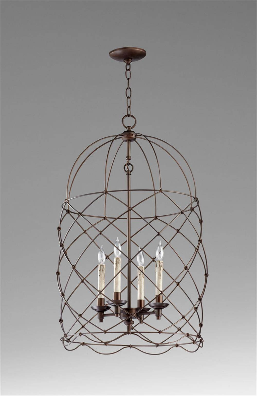 Adele Oil Rubbed Bronze Four Light Bird Cage Chandelier | Kathy for Birdcage Lights Fixtures (Image 2 of 15)