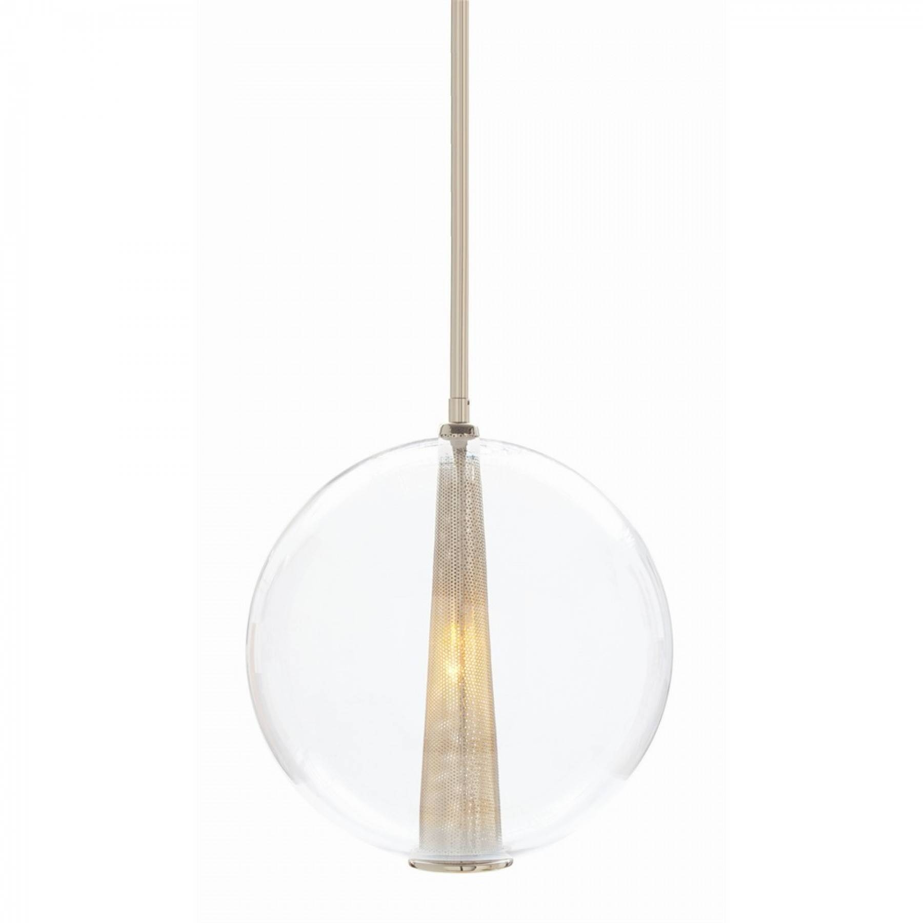 Adjustable Large Pendant with Caviar Pendant Lights (Image 2 of 15)