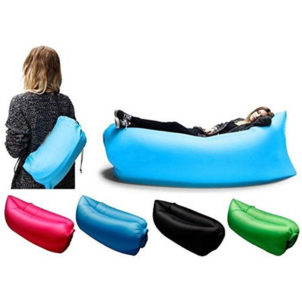 Air Instantly Inflatable Hangout Sofa Sleeping Bag Lounge Chair pertaining to Sleeping Bag Sofas (Image 1 of 15)