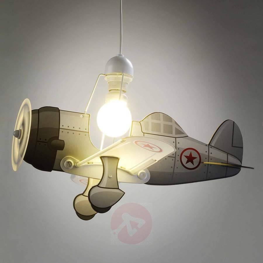 Airplane Pendant Light Airplane, Grey | Lights.co.uk for Airplane Pendant Lights (Image 4 of 15)