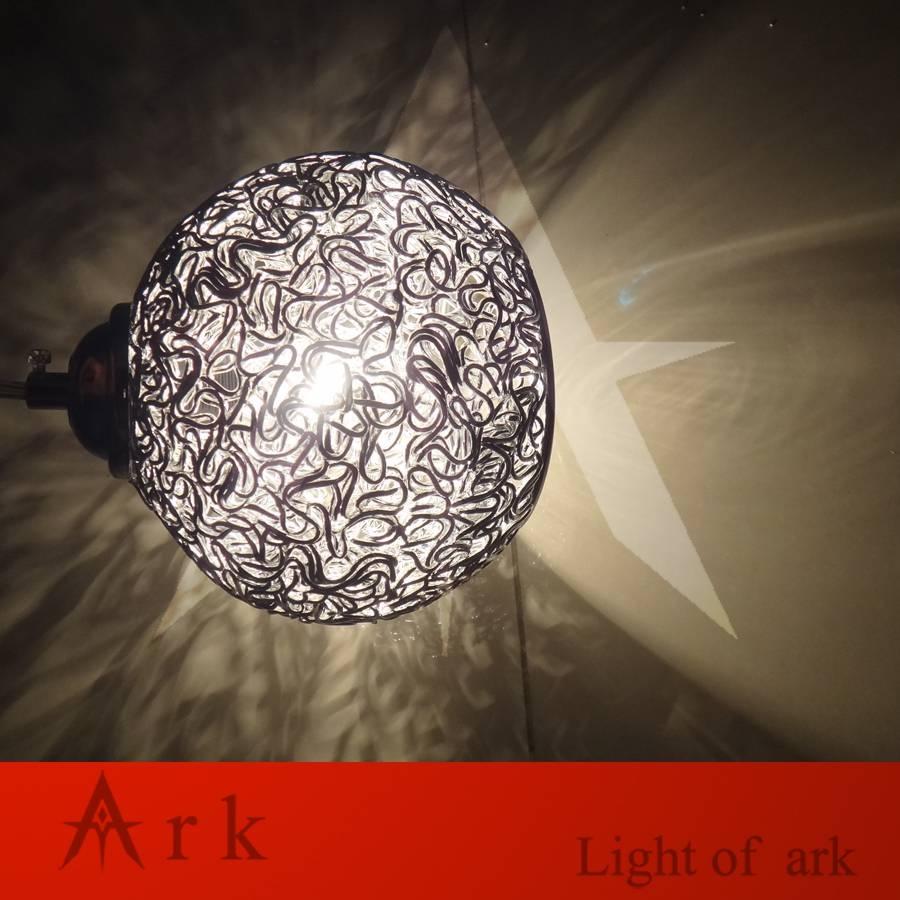 Aliexpress : Buy Ark Light New Modern Dia 15Cm Round Aluminum regarding Wire Ball Lights Pendants (Image 2 of 15)