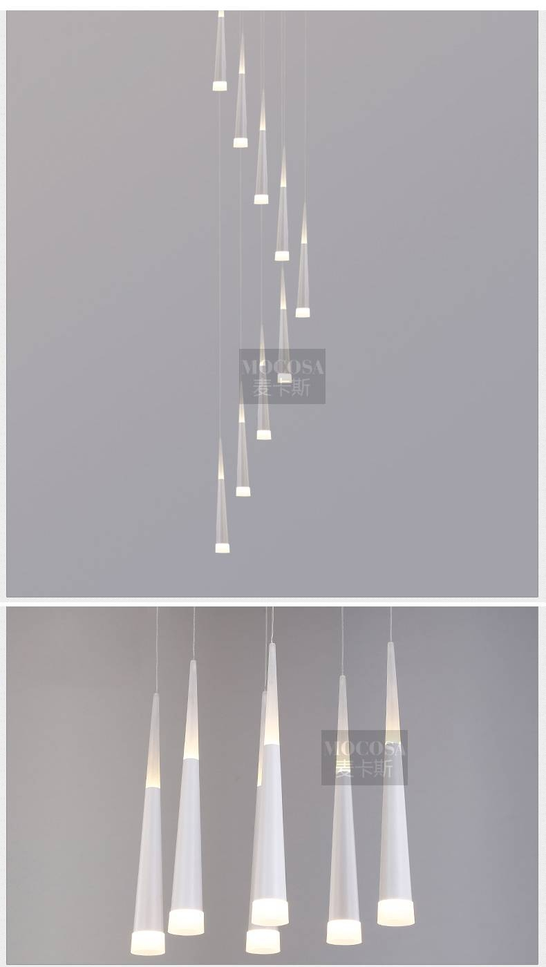 Aliexpress : Buy Art Decor 1.5 3.8M Long Led Cone Pendant with regard to Stairwell Pendant Lights (Image 2 of 15)