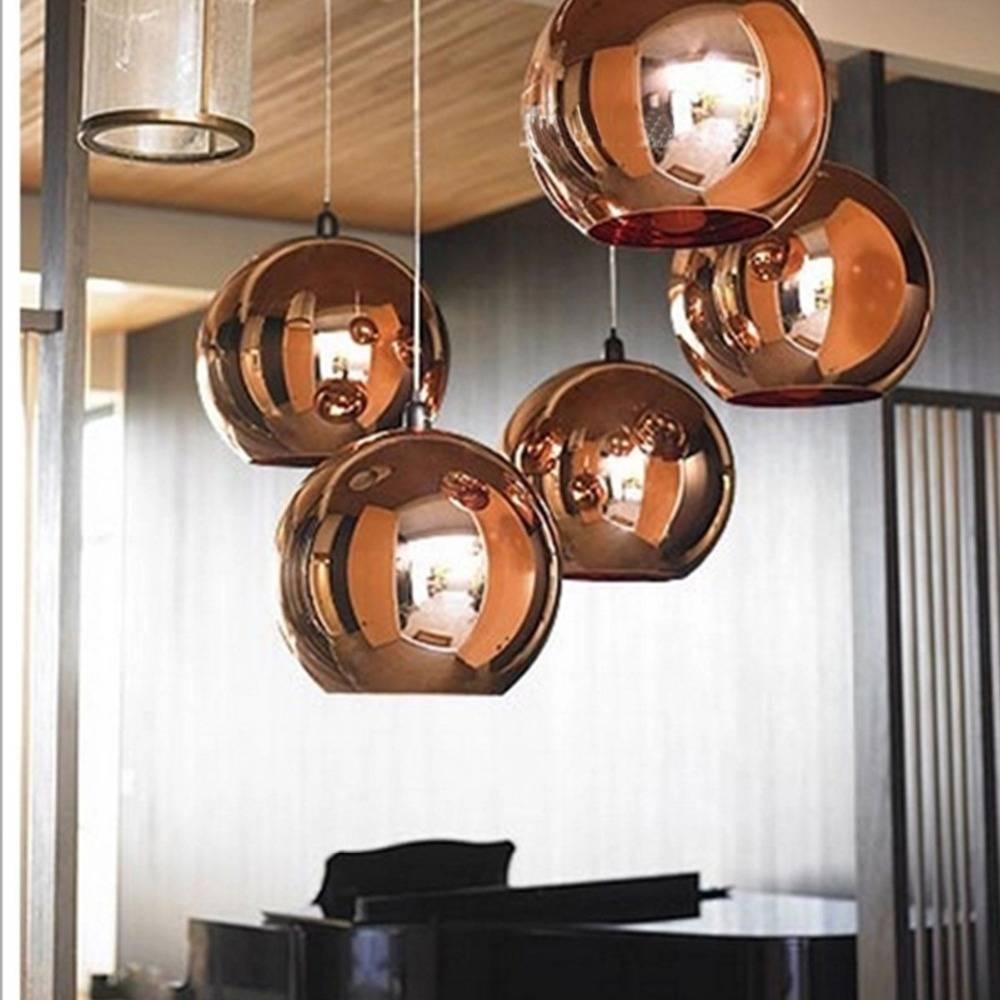 Aliexpress : Buy Fashion Copper Globe Shape Pendant Light regarding Wire Ball Pendant Lights (Image 1 of 15)