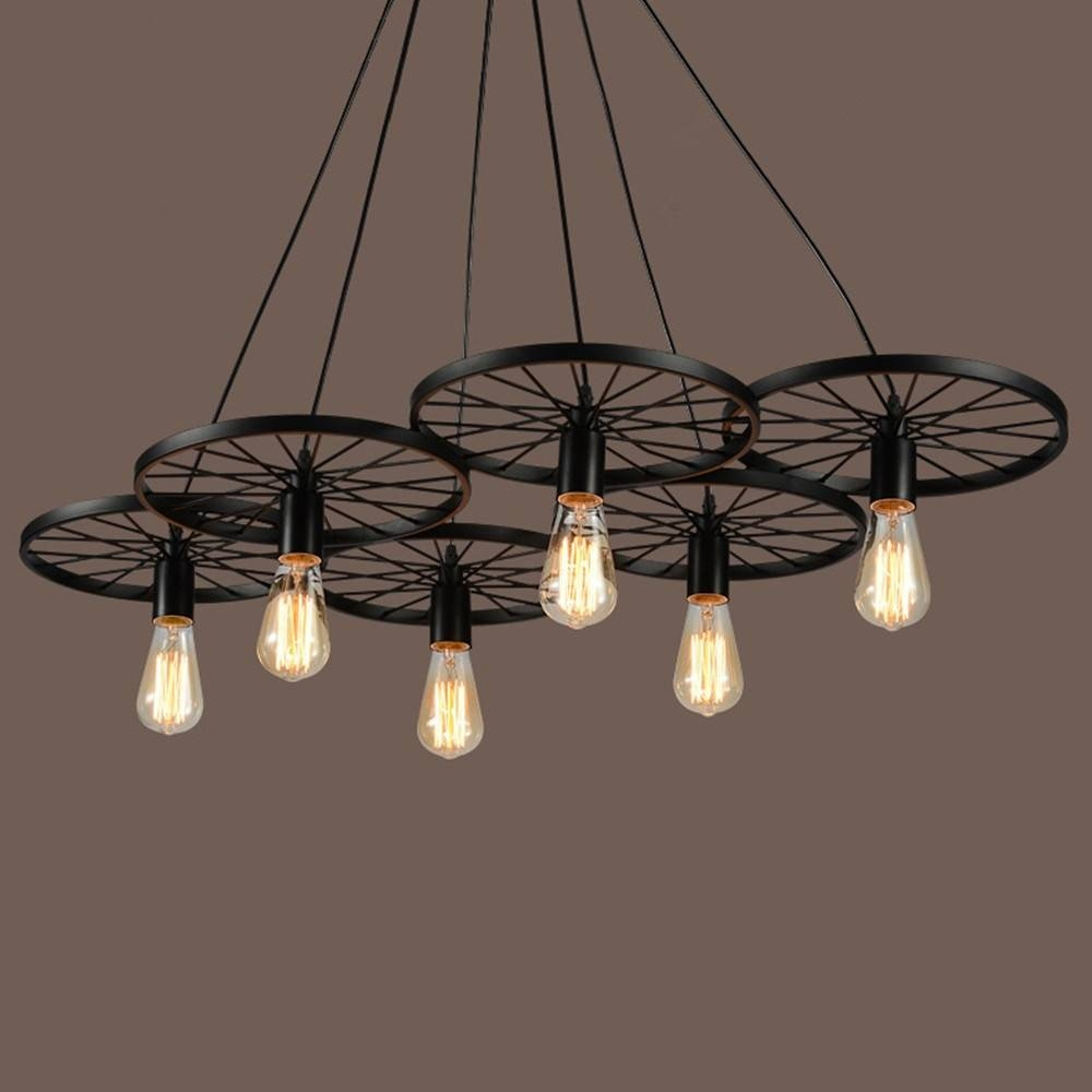 Aliexpress : Buy Industrial Large Pendant Lights Wrought Iron with regard to Wrought Iron Lights Fixtures for Kitchens (Image 3 of 15)