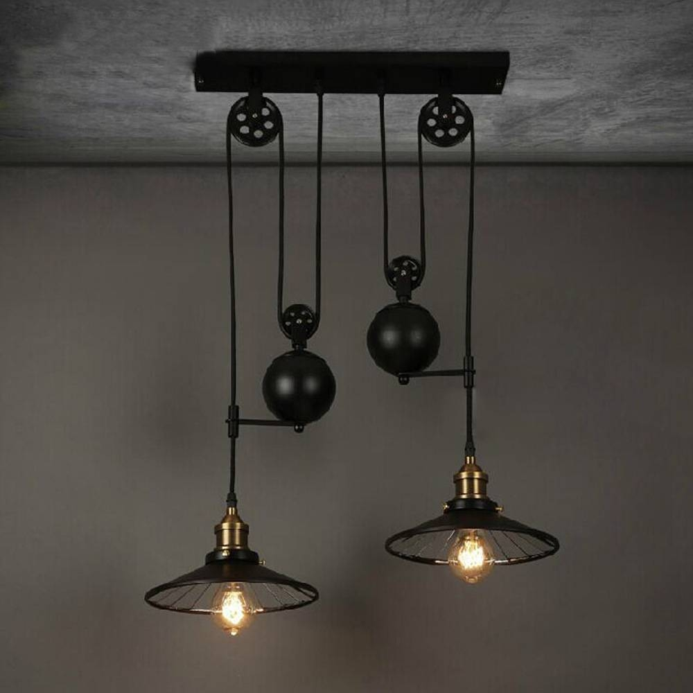 Aliexpress : Buy Loft Vintage Retro Wrought Iron Black throughout Wrought Iron Lights Fixtures For Kitchens (Image 4 of 15)