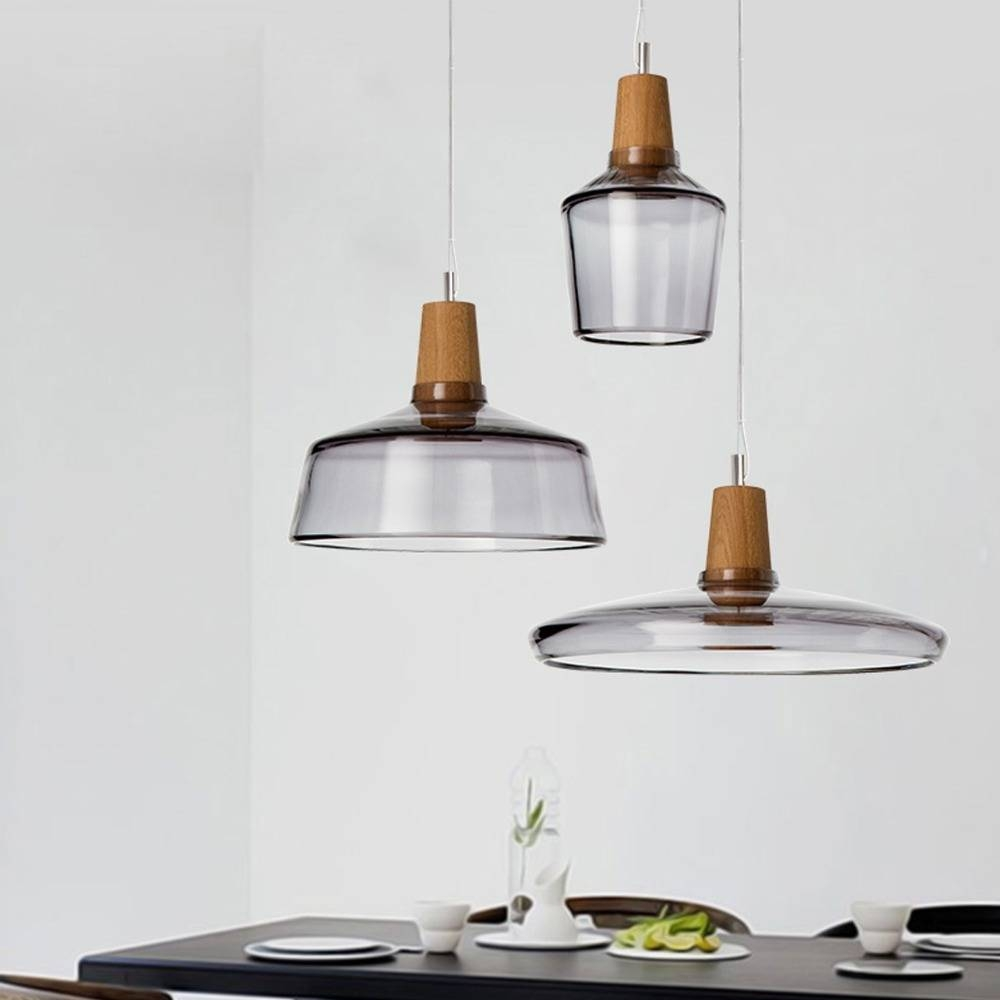 Aliexpress : Buy Wood Natural Diy Craft Glass Pendant Light With Ikea Pendent Lights (View 2 of 15)