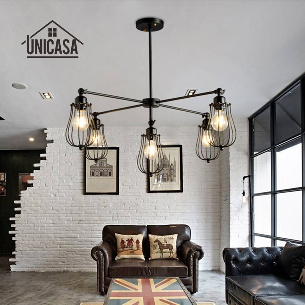 Aliexpress : Buy Wrought Iron Pendant Lights Vintage Intended For Wrought Iron Kitchen Lights Fixtures (View 12 of 15)