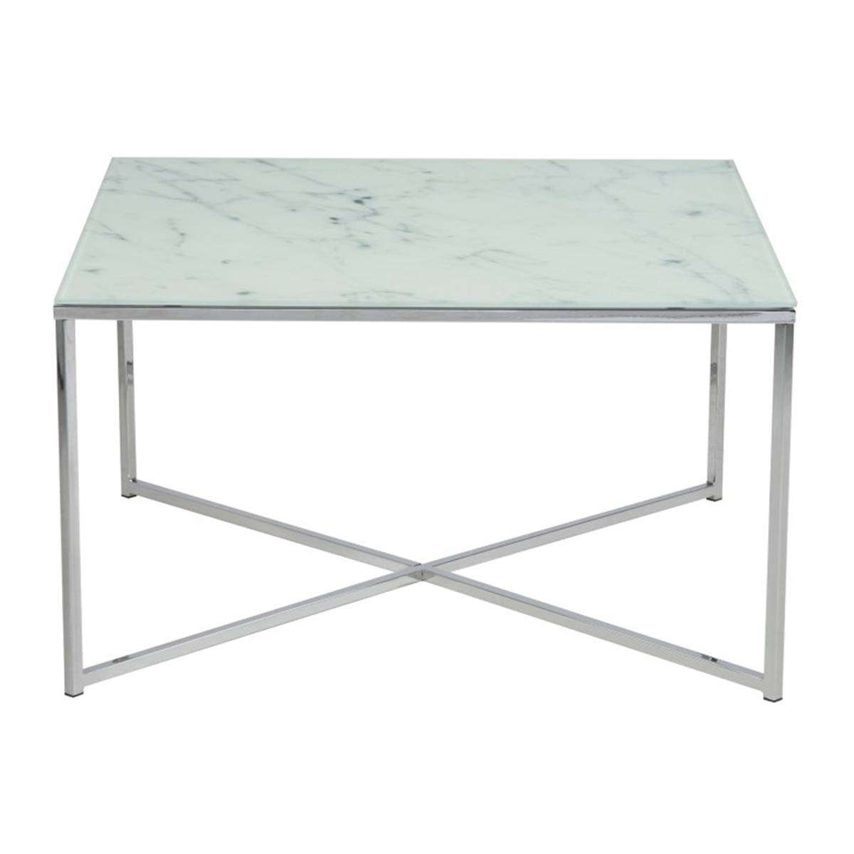 Alisma Marble Style Glass Coffee Table | Coffee Tables From Fads within Marble and Glass Coffee Table (Image 3 of 15)