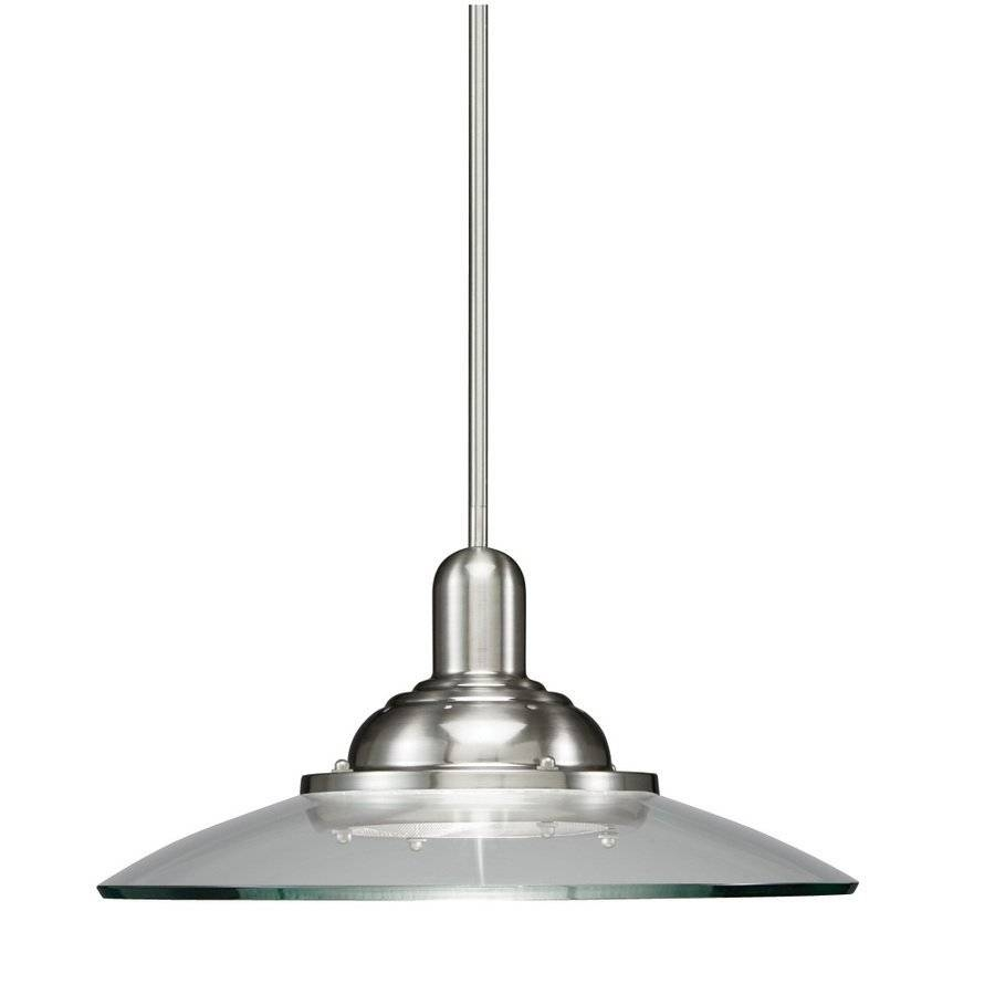 Allen + Roth 18 1/2-In Brushed Nickel Pendant Light With Clear regarding Allen and Roth Pendant Lights (Image 1 of 15)