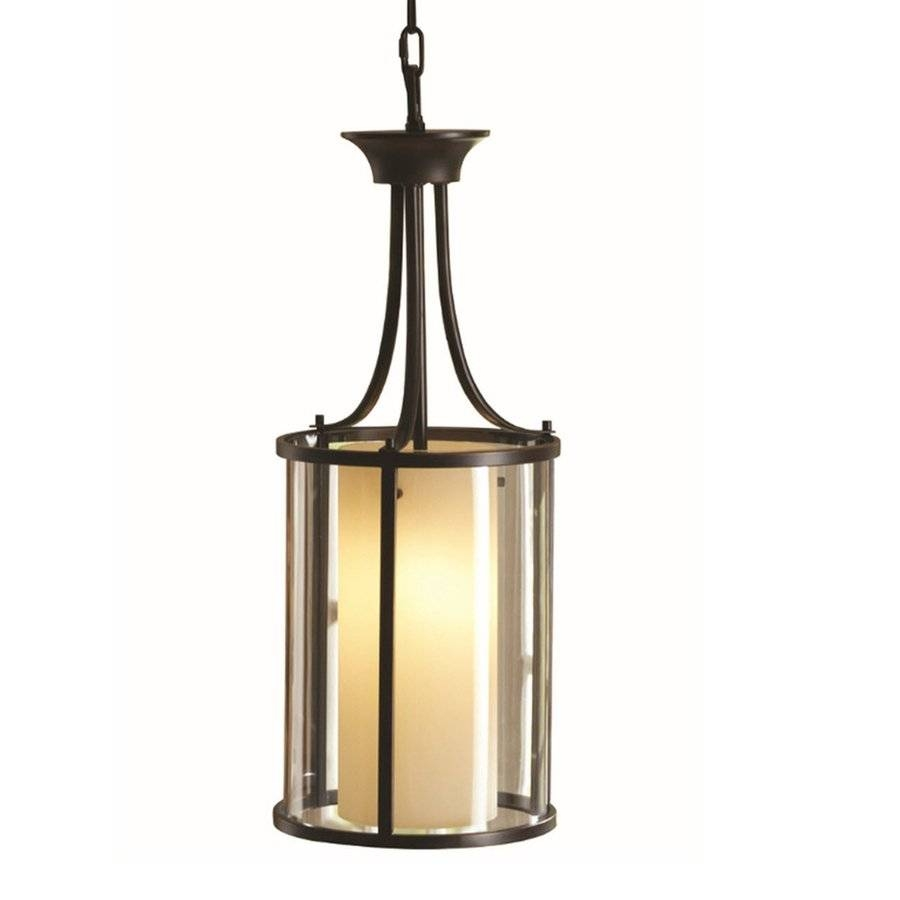 Allen + Roth Harpwell 9.06-In W Oil-Rubbed Bronze Hardwired with regard to Allen Roth Pendant Lights (Image 2 of 15)