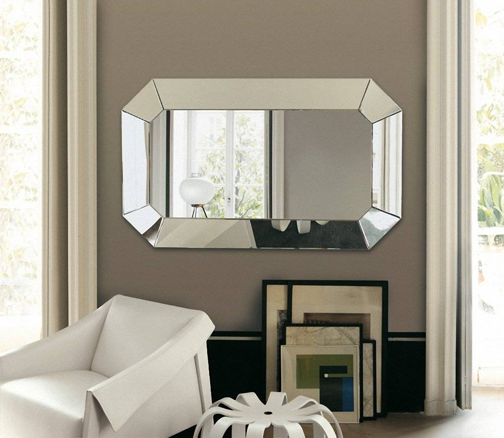 Amazing Chic Large Wall Mirrors For Living Room Modern Ideas Large inside Big Modern Mirrors (Image 1 of 15)