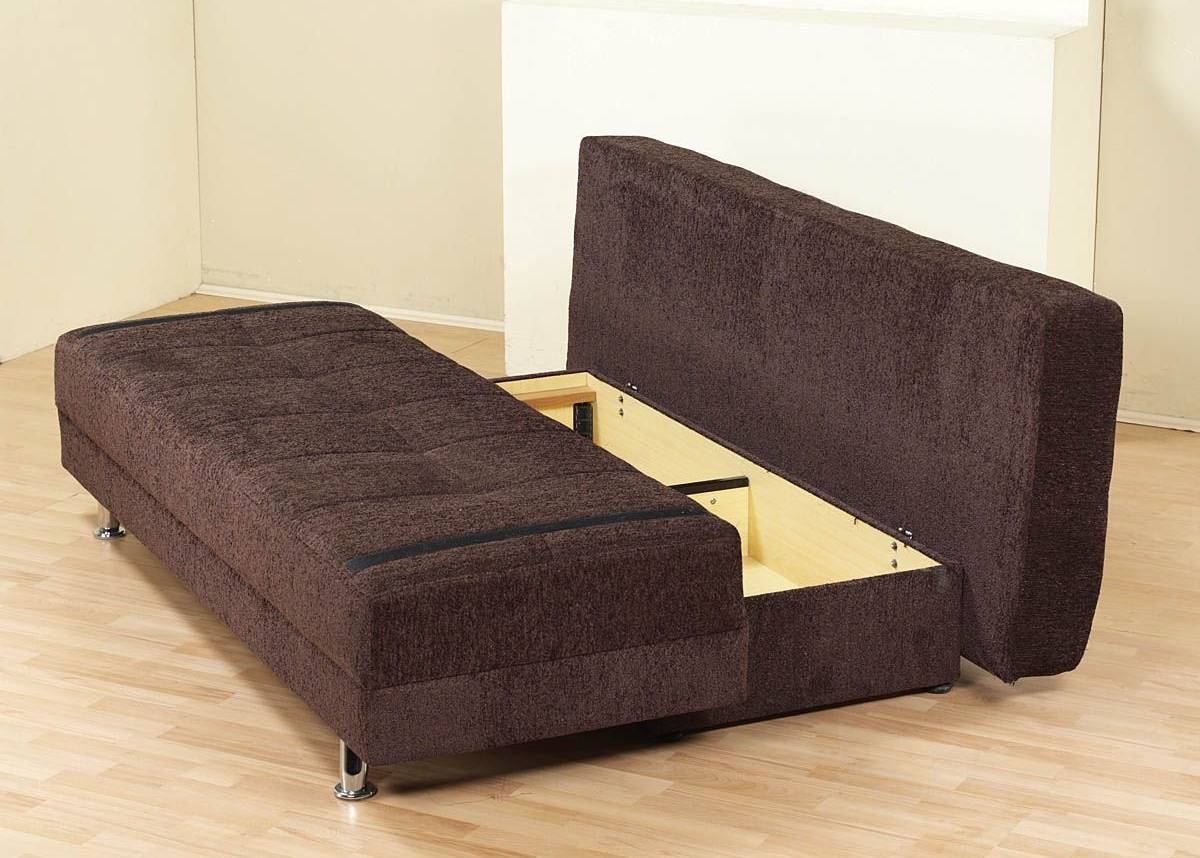 futon w images of gray drawers underneath storage with alternate image