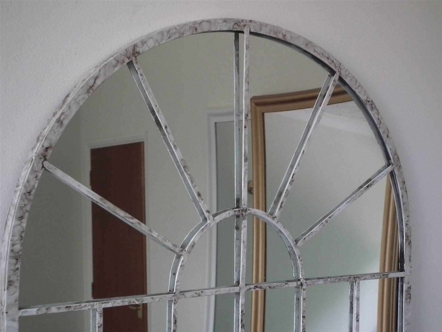 Amiel Large Arch Mirror 5 Awesome Exterior With Metal Arch Mirror pertaining to Metal Garden Mirrors (Image 4 of 15)