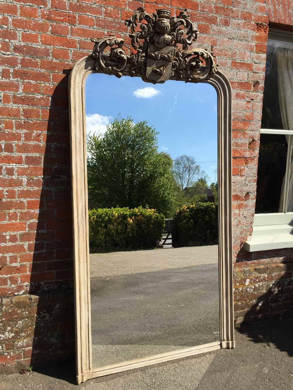 An Extra Large Highly Decorative Arched Top Antique 19Th Century inside Large Overmantle Mirrors (Image 3 of 15)