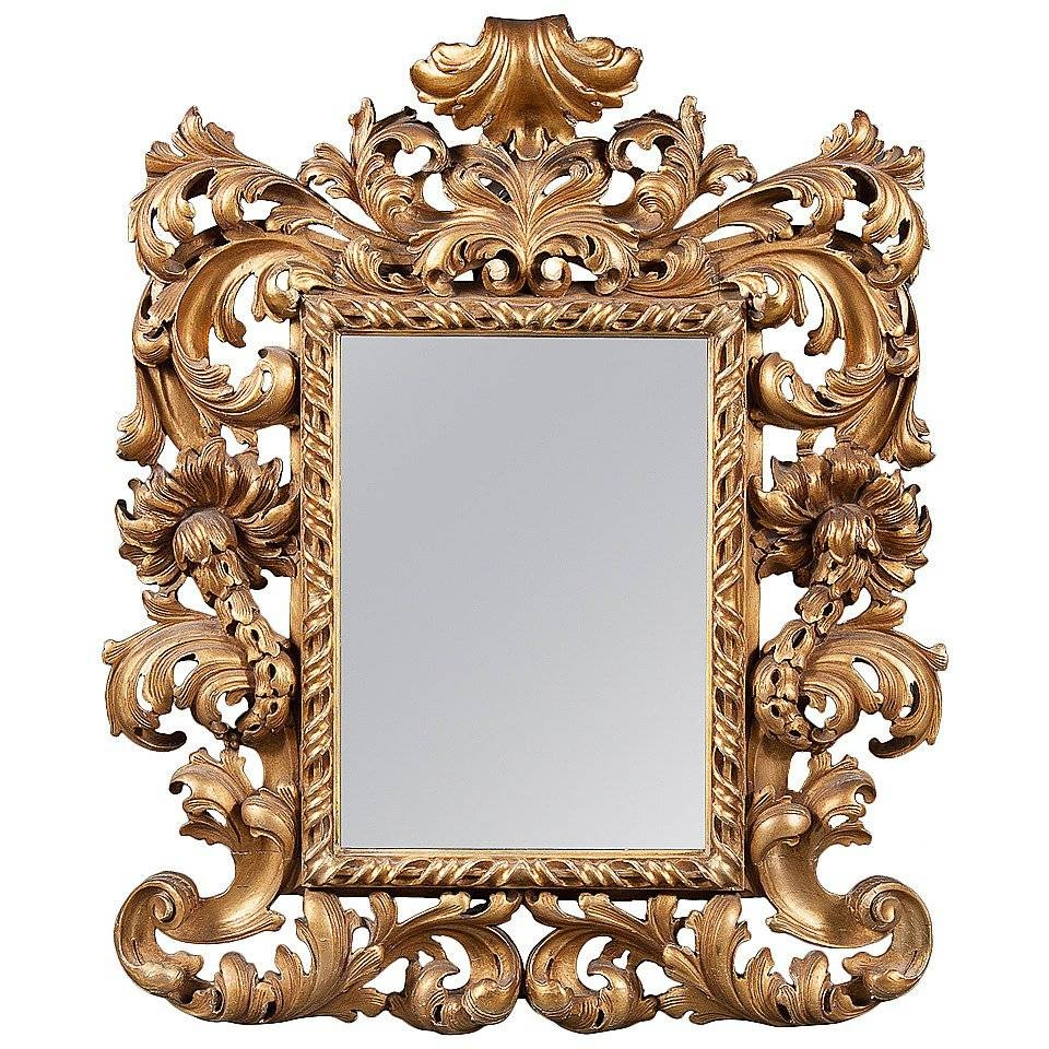 An Intricate 19Th Century French Giltwood Rococo Style Vanity Or throughout Rococo Style Mirrors (Image 4 of 15)