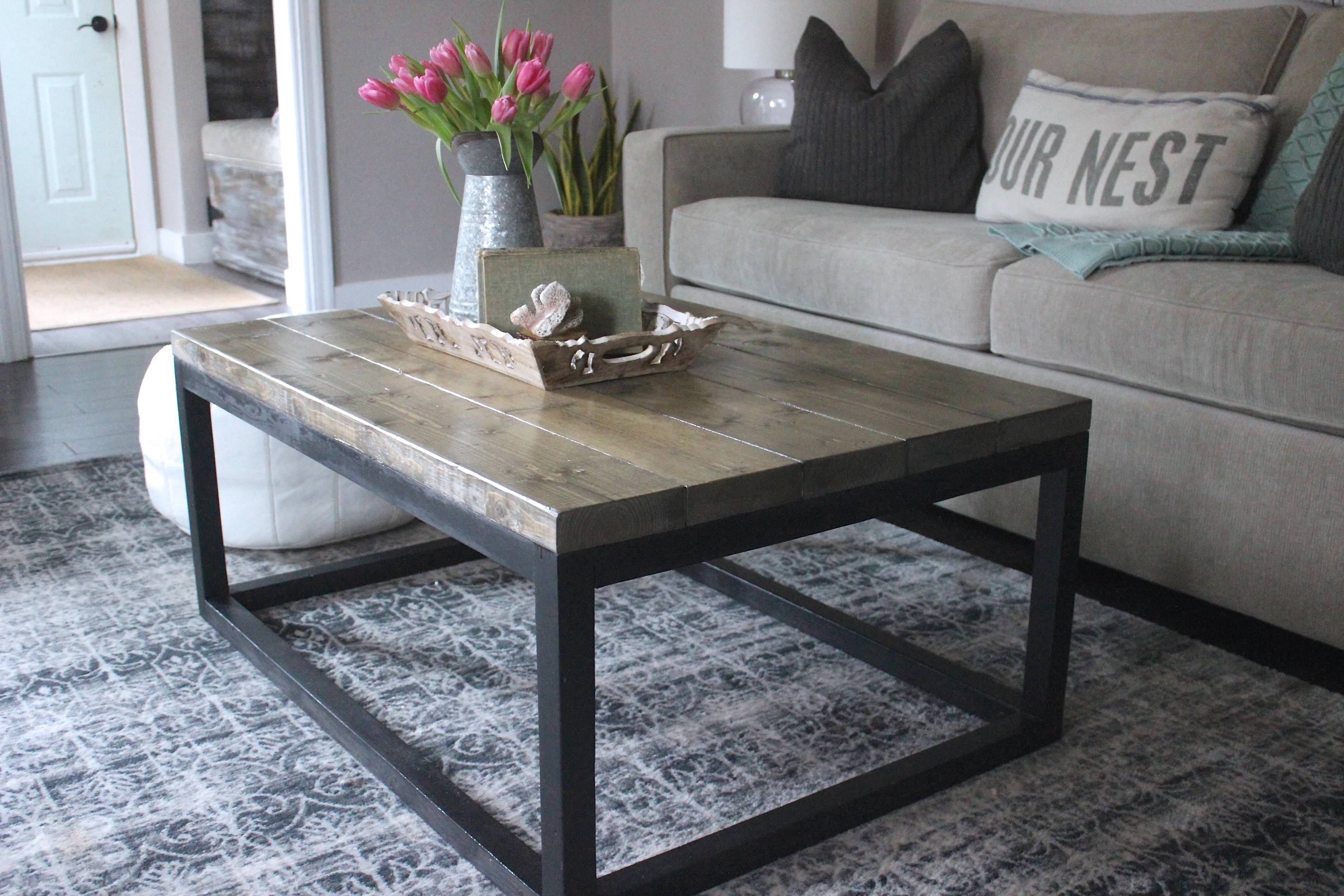 Ana White | Industrial Coffee Table - Diy Projects inside Industrial Coffee Tables (Image 1 of 15)