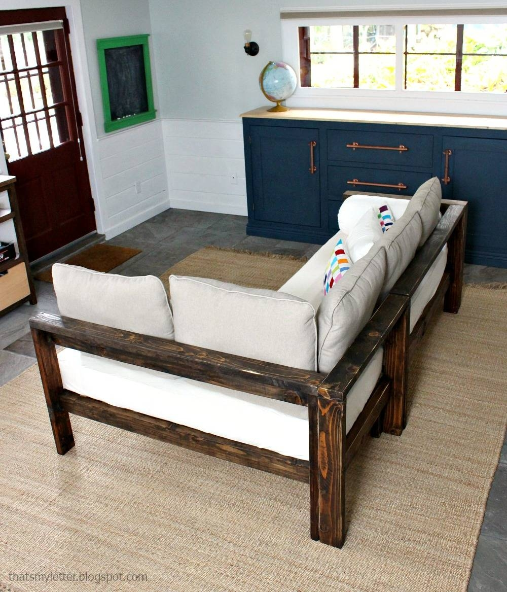 Ana White | Kids Couch - 2X4 Diy Sectional With Crib Mattress pertaining to Sofas Mattress (Image 1 of 15)