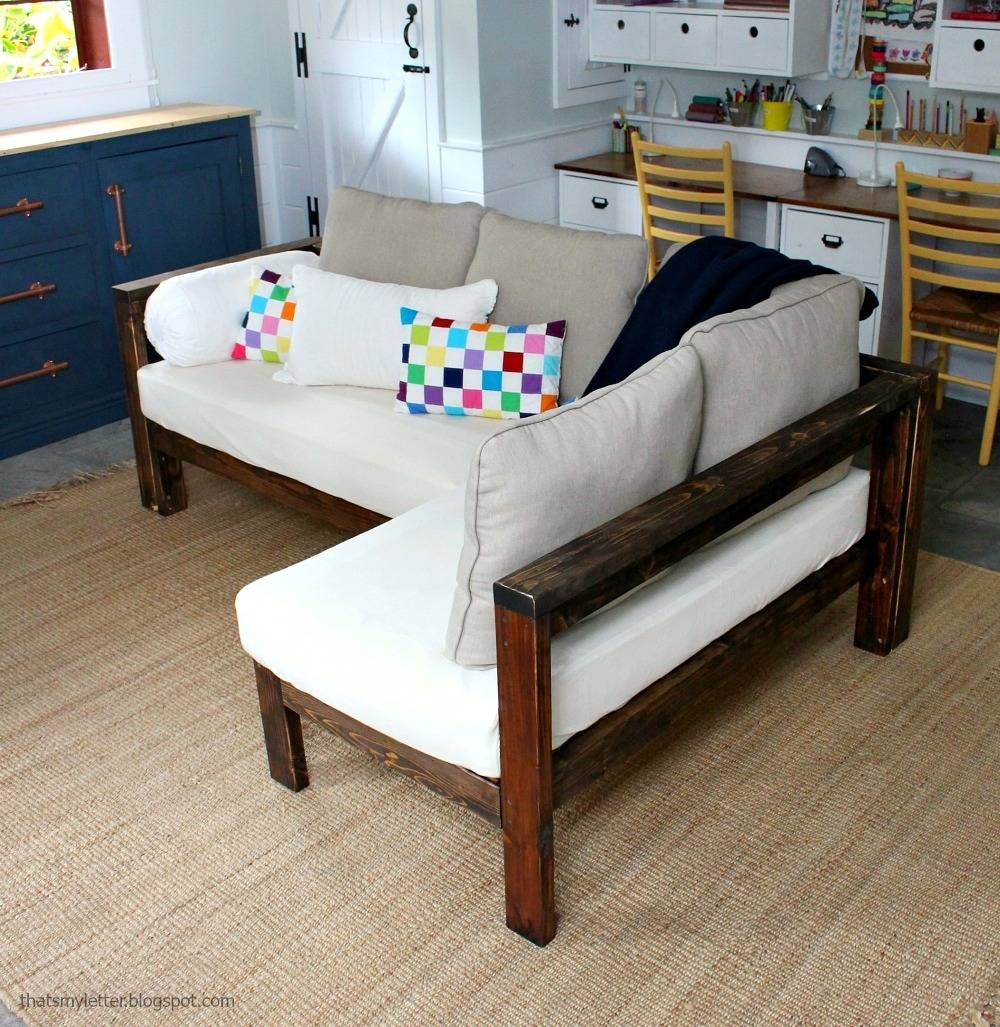 Ana White | Kids Couch – 2X4 Diy Sectional With Crib Mattress Within Building A Sectional Sofas (View 12 of 15)