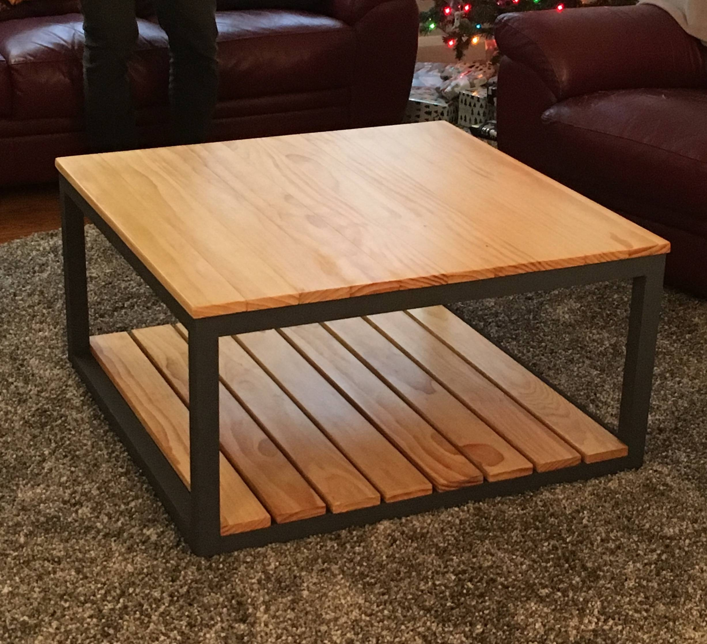 Ana White | Modified Industrial Style Coffee Table W/ Bottom Shelf Regarding Industrial Style Coffee Tables (View 9 of 15)