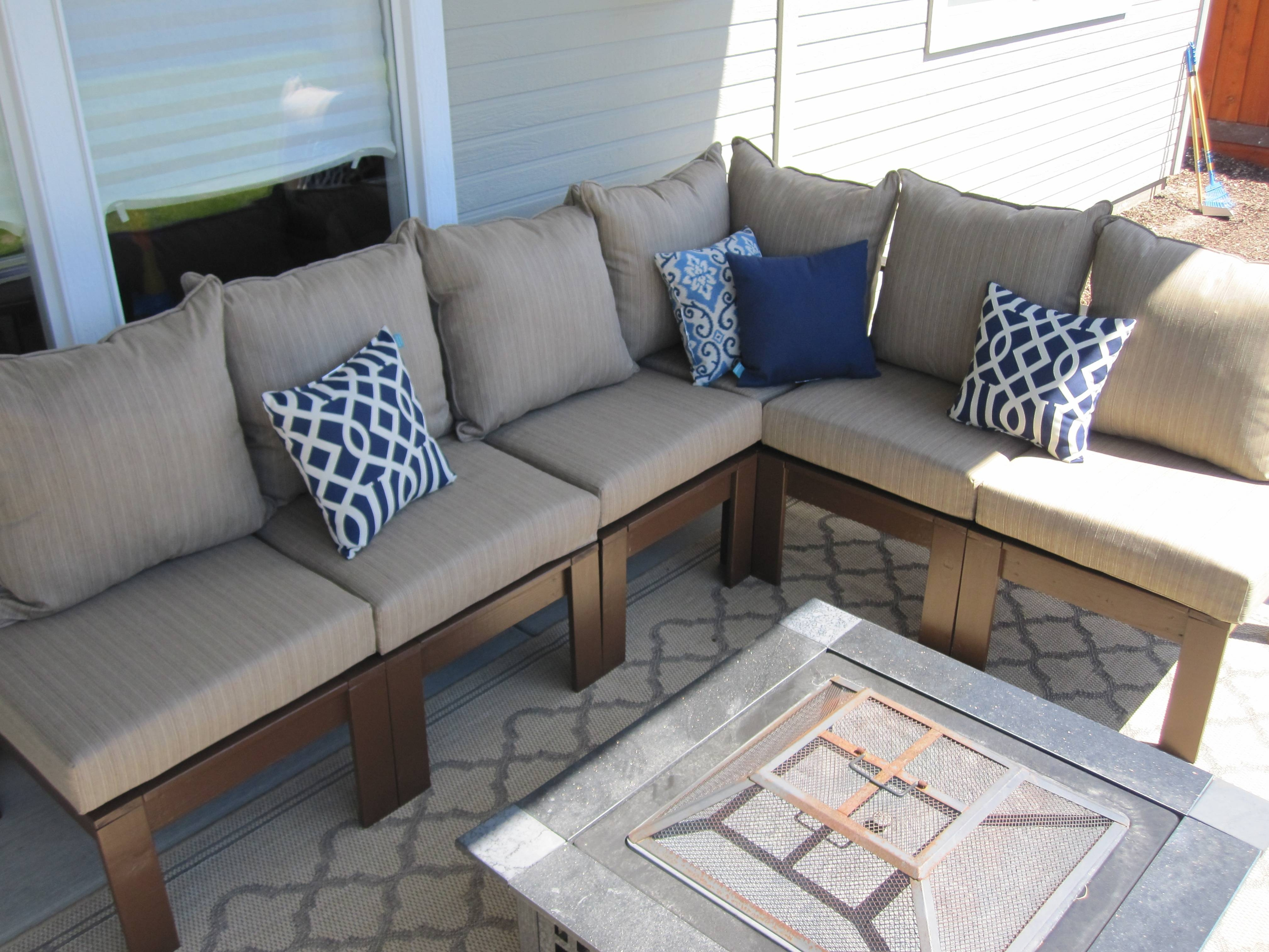 Ana White | Outdoor Sectional – Diy Projects Throughout Building A Sectional Sofas (View 11 of 15)