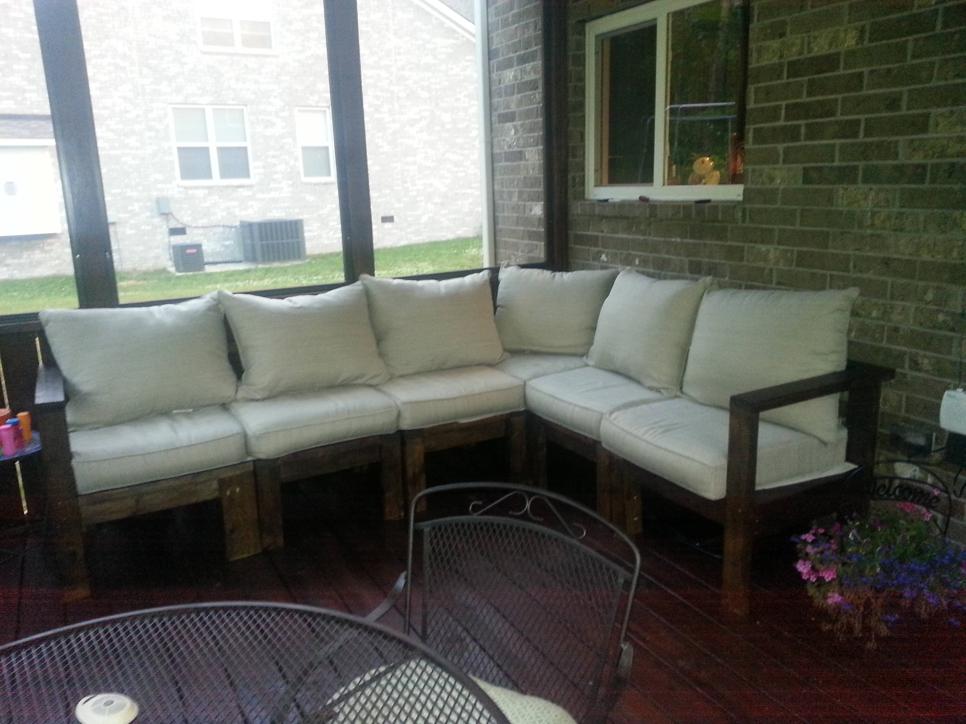 Ana White | Outdoor Sectional Sofa – Diy Projects For Building A Sectional Sofas (View 4 of 15)