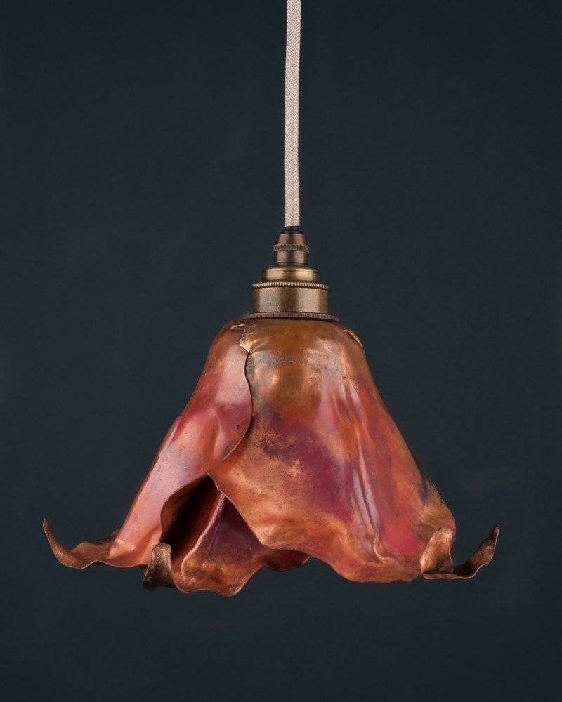 And Crafts Lighting, Copper Gorsley Flower Pendant Light regarding Arts And Crafts Pendant Lighting (Image 3 of 15)