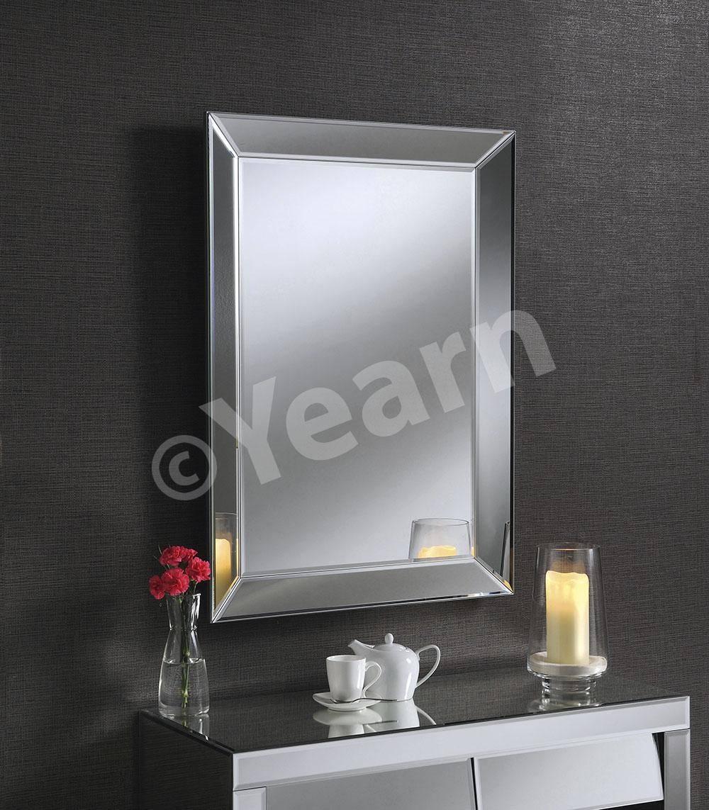 Angled Side Frameless Bevelled Art Deco Mirror - £253.00 - Prints in Art Deco Frameless Mirrors (Image 2 of 15)