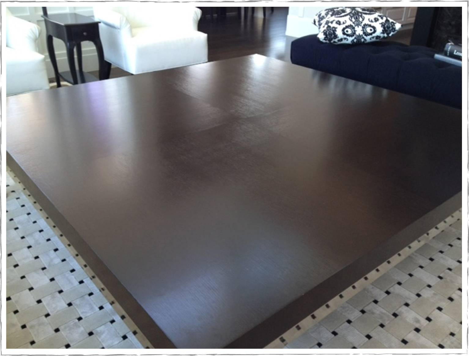 Another Huge Coffee Table Re Do All Things New Interiors Ottoman in Huge Coffee Tables (Image 1 of 15)