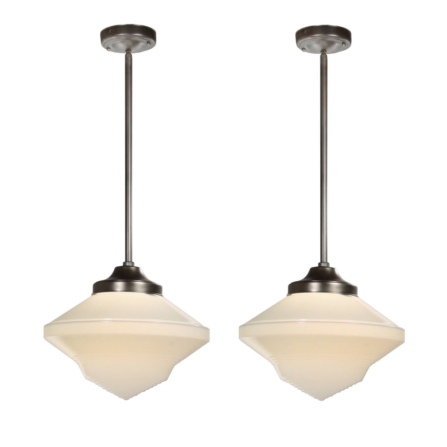 Antique Art Deco Pendant Lights, C.1920 - Preservation Station within Art Nouveau Pendant Lights (Image 5 of 15)